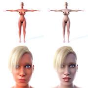 Женщина T-Pose 3d model