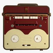 老式50年代筒管录音机 3d model
