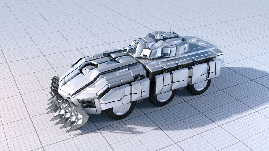 Sci-fi Armored Fighting Vehicle royalty-free 3d model - Preview no. 1