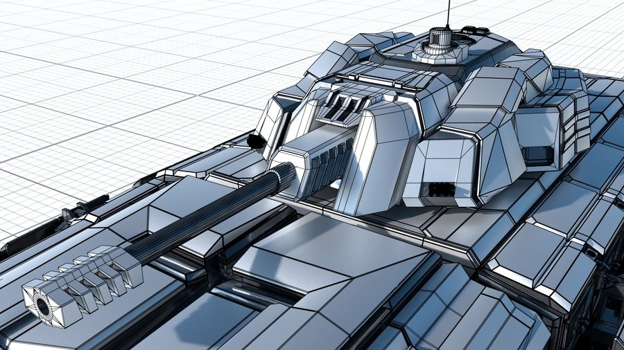 Sci-fi Armored Fighting Vehicle royalty-free 3d model - Preview no. 6