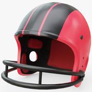 美式橄榄球头盔玩具 3d model
