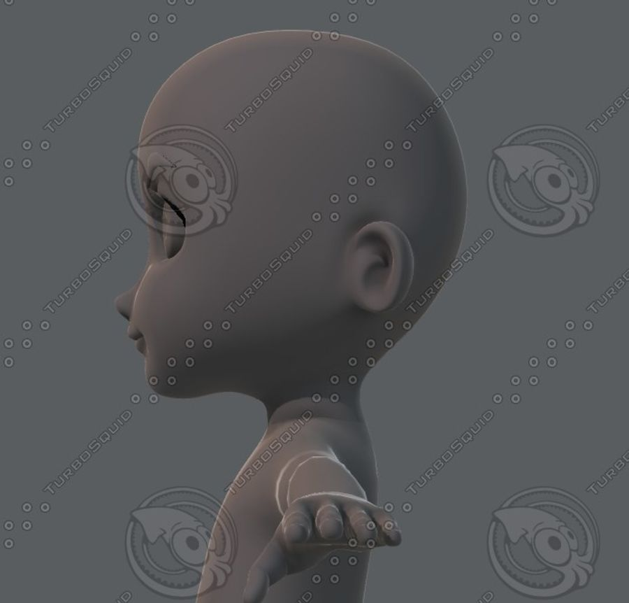 Base mesh boy character royalty-free 3d model - Preview no. 47