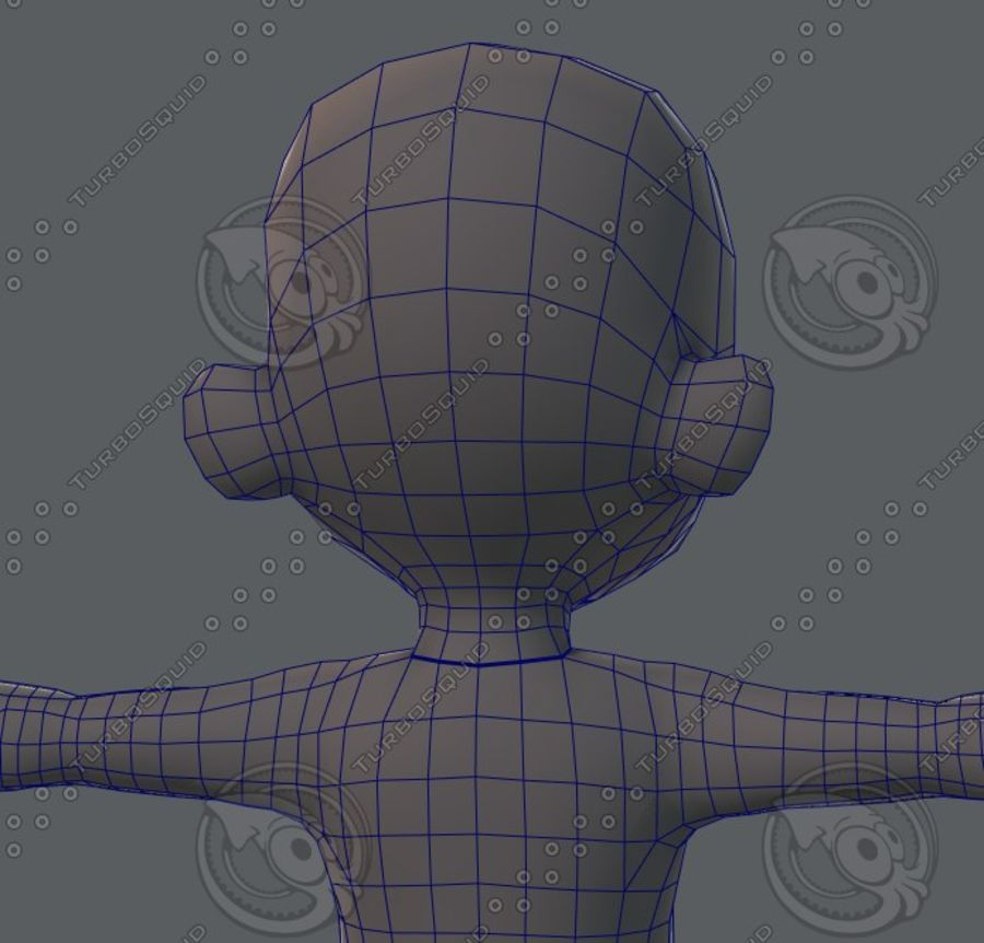 Base mesh boy character royalty-free 3d model - Preview no. 69