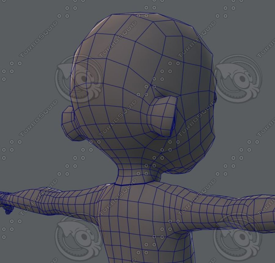 Base mesh boy character royalty-free 3d model - Preview no. 68