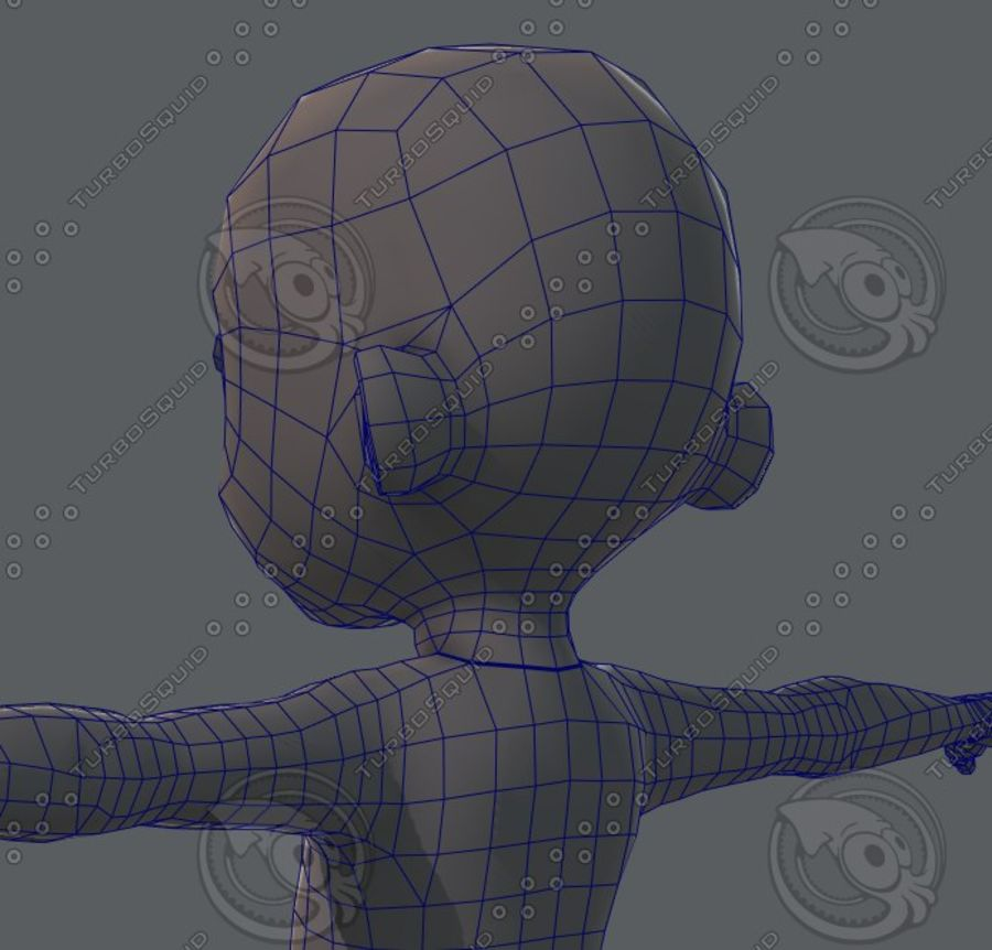 Base mesh boy character royalty-free 3d model - Preview no. 70