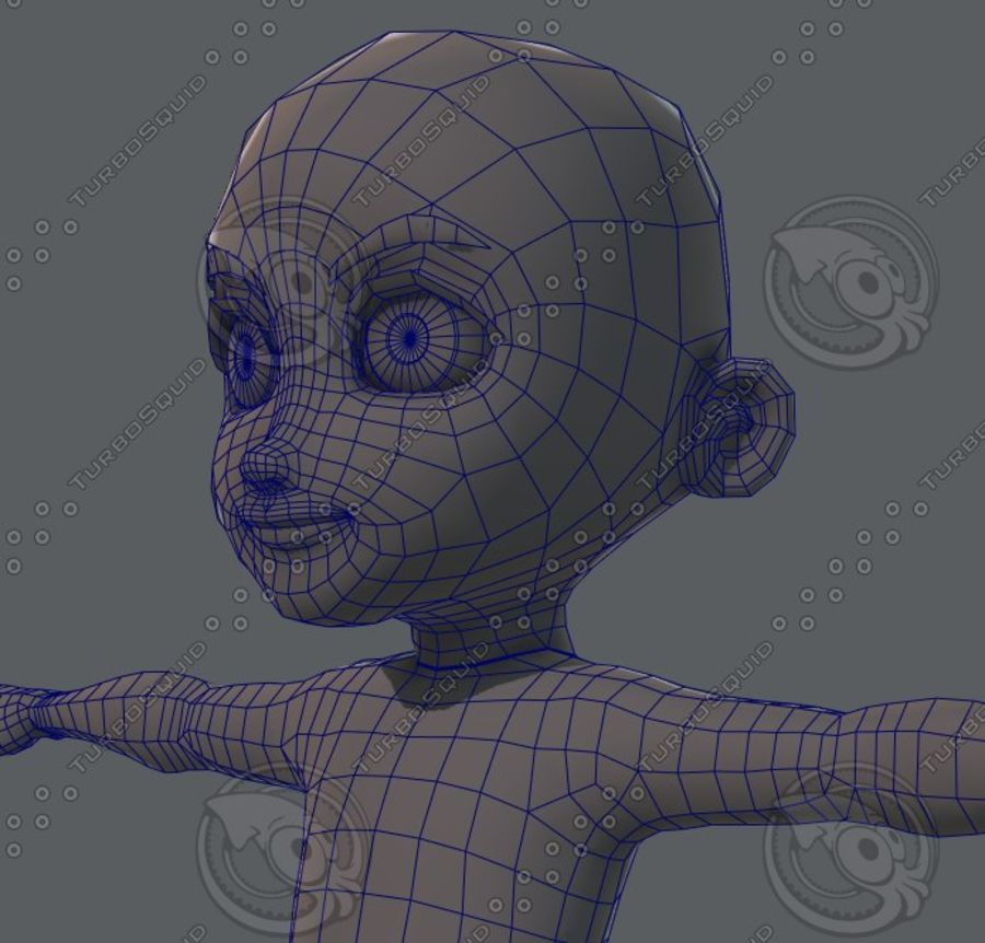 Base mesh boy character royalty-free 3d model - Preview no. 72