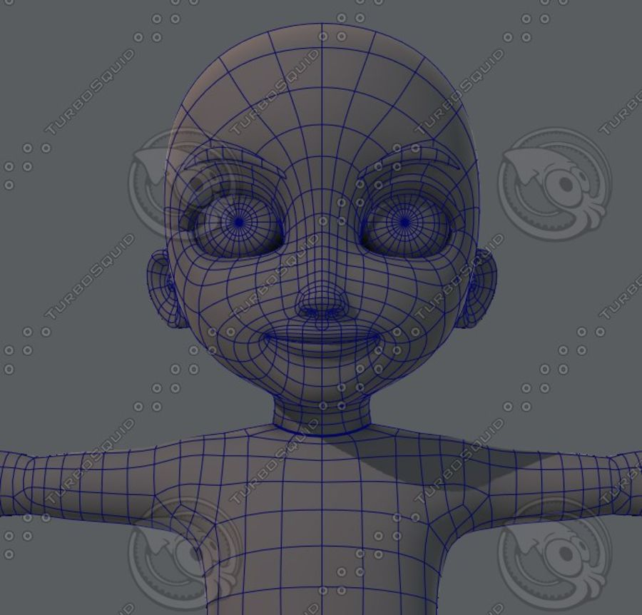 Base mesh boy character royalty-free 3d model - Preview no. 49