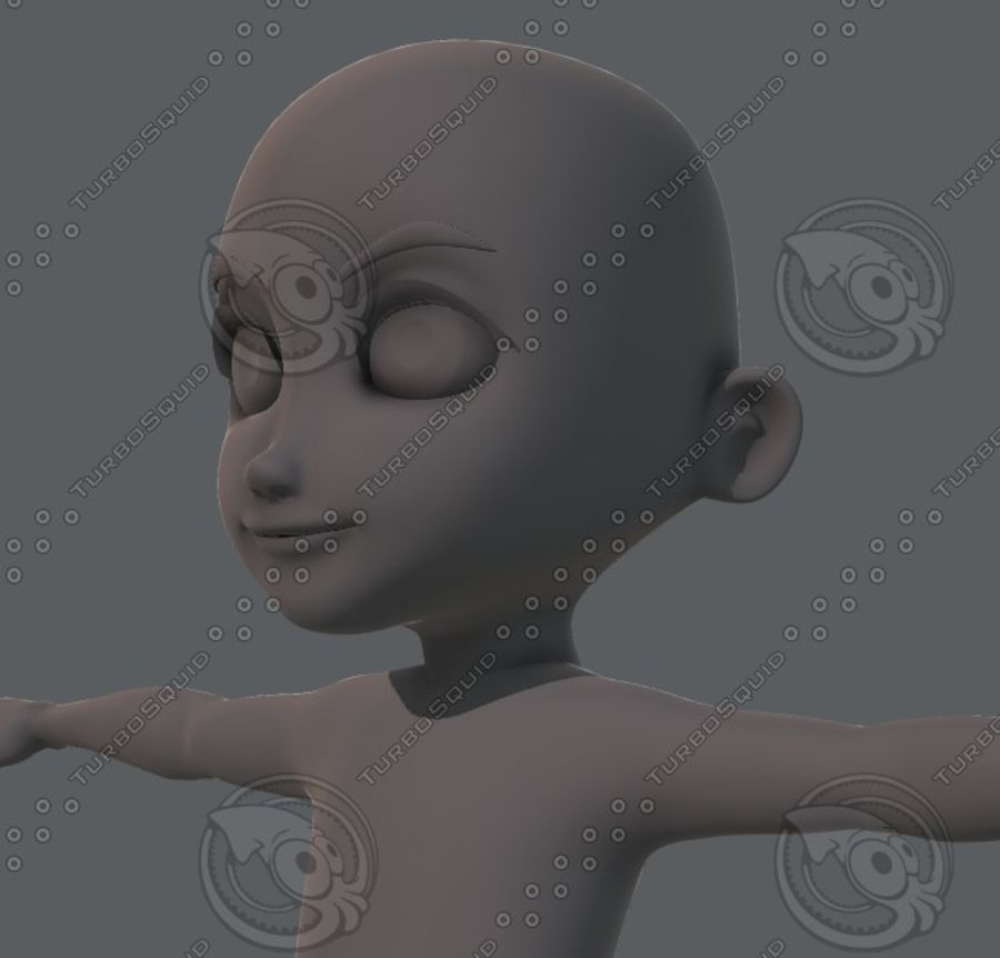 Base mesh boy character royalty-free 3d model - Preview no. 48