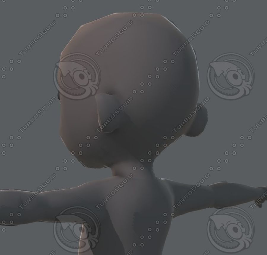 Base mesh boy character royalty-free 3d model - Preview no. 62