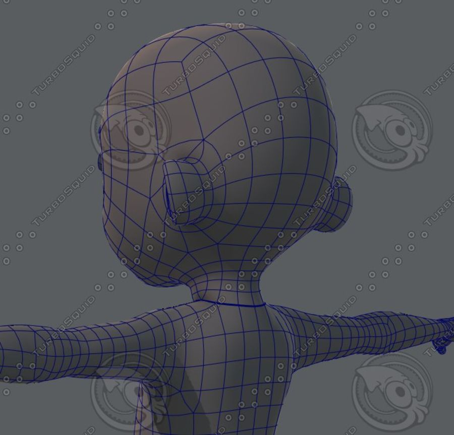 Base mesh boy character royalty-free 3d model - Preview no. 54