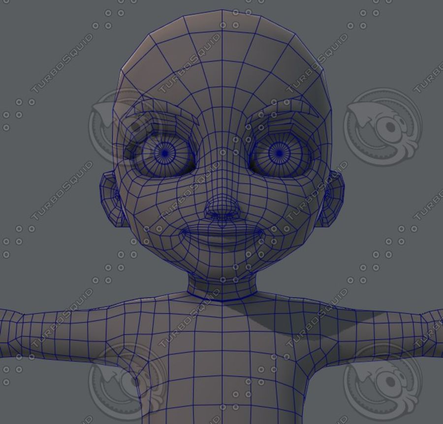 Base mesh boy character royalty-free 3d model - Preview no. 65