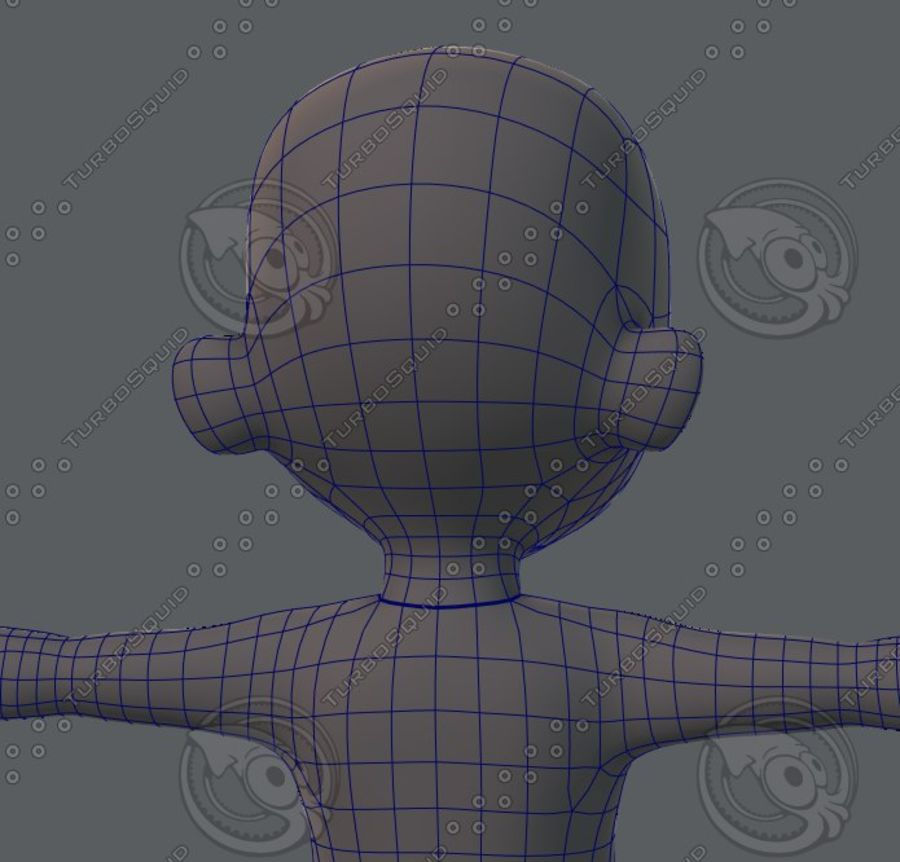 Base mesh boy character royalty-free 3d model - Preview no. 53