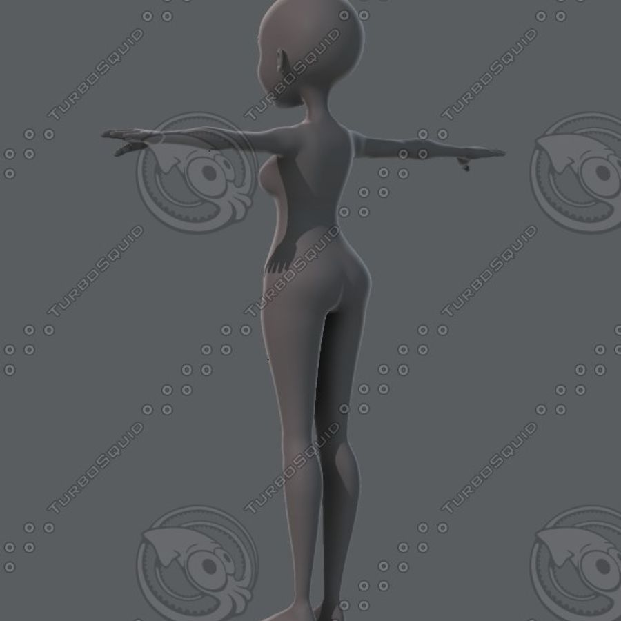 Mulher de malha de base 02 royalty-free 3d model - Preview no. 7