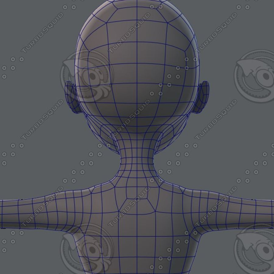 Mulher de malha de base 02 royalty-free 3d model - Preview no. 46