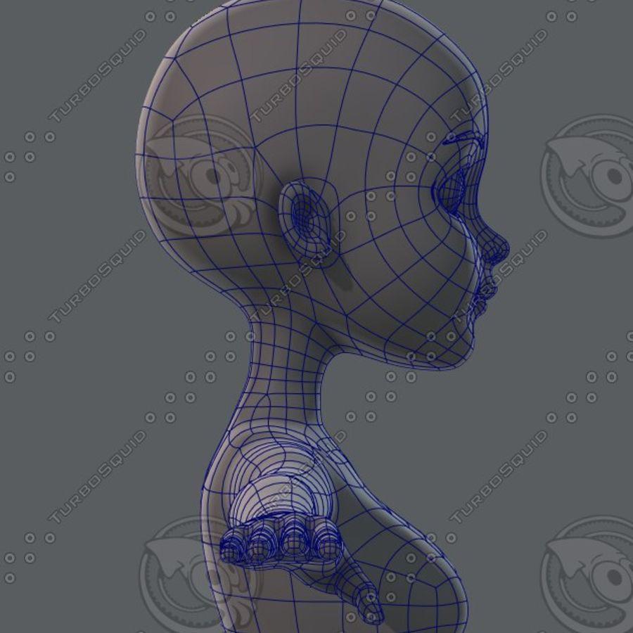 Mulher de malha de base 02 royalty-free 3d model - Preview no. 44