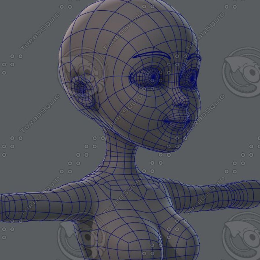 Mulher de malha de base 02 royalty-free 3d model - Preview no. 43