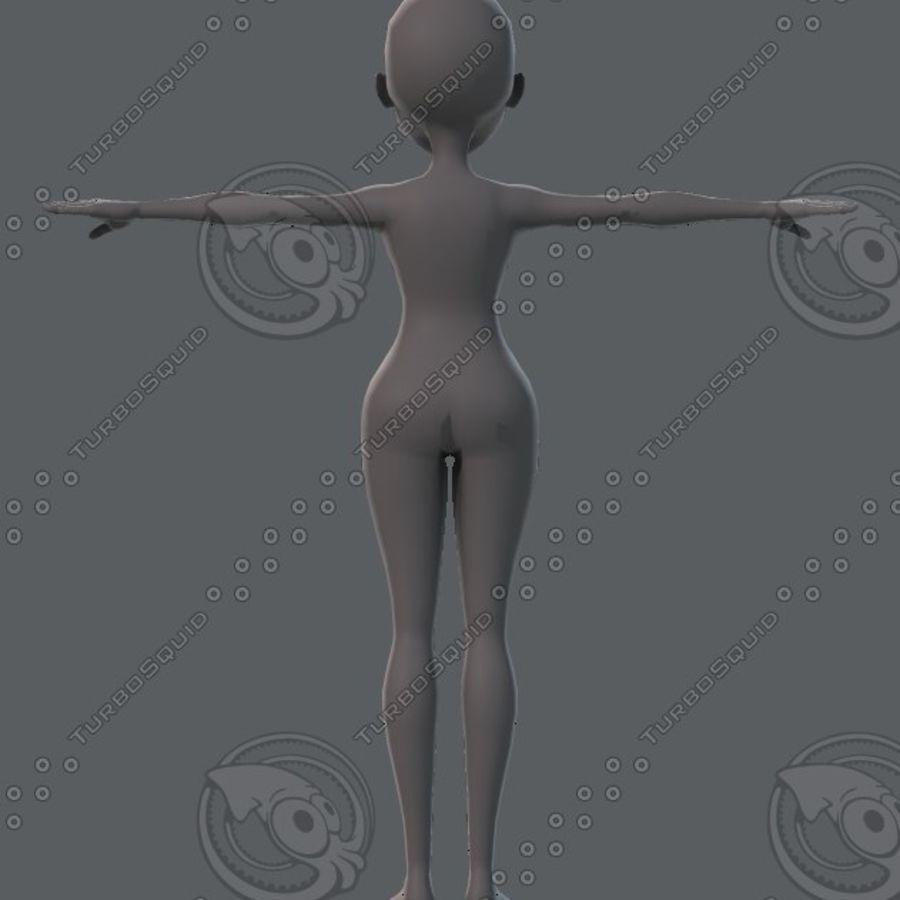 Mulher de malha de base 02 royalty-free 3d model - Preview no. 22