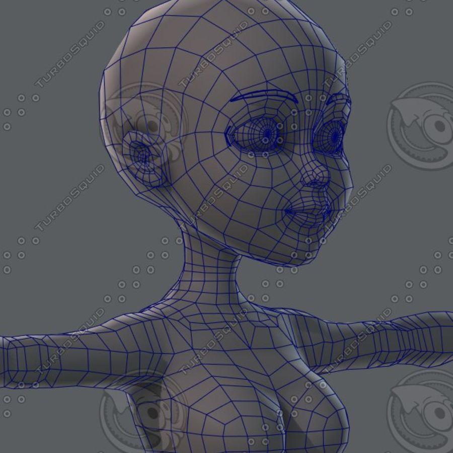 Mulher de malha de base 02 royalty-free 3d model - Preview no. 59