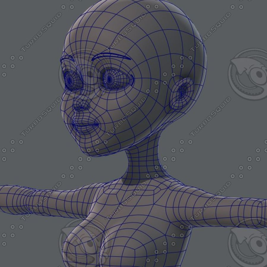 Mulher de malha de base 02 royalty-free 3d model - Preview no. 49