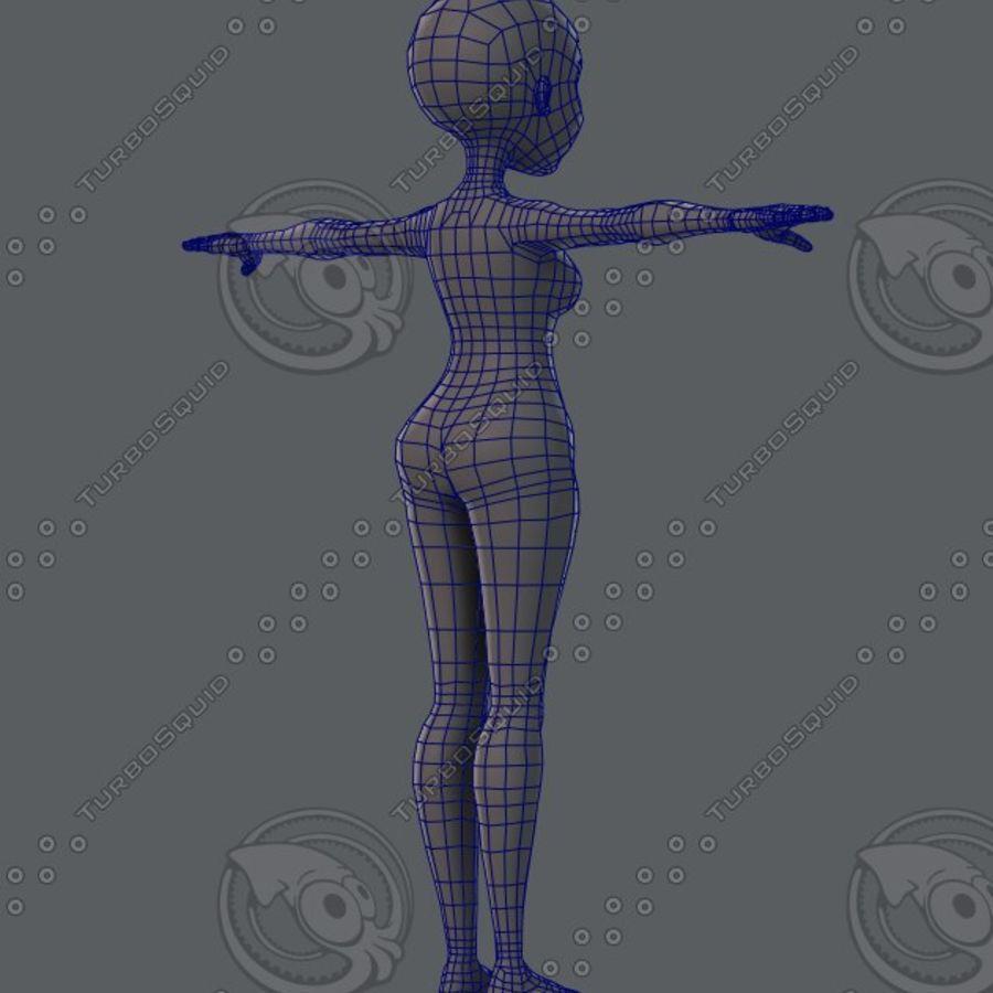 Mulher de malha de base 02 royalty-free 3d model - Preview no. 29