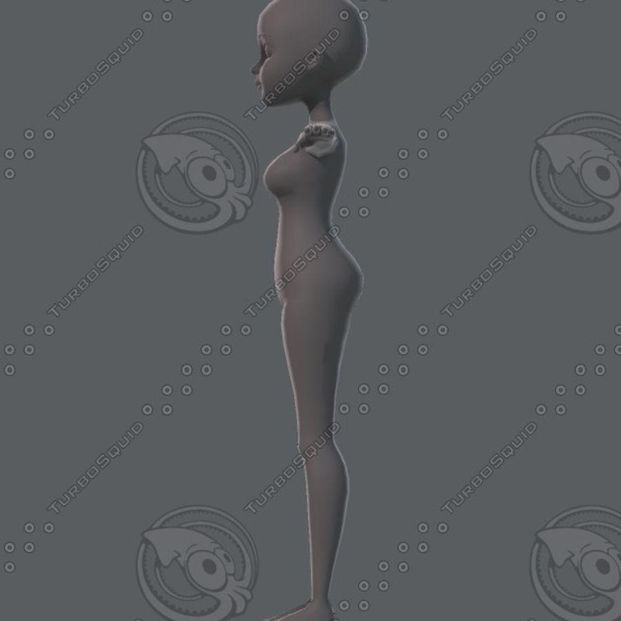 Mulher de malha de base 02 royalty-free 3d model - Preview no. 24