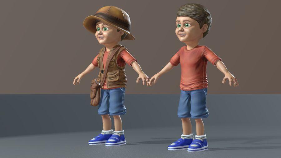 Exploring Boy royalty-free 3d model - Preview no. 14