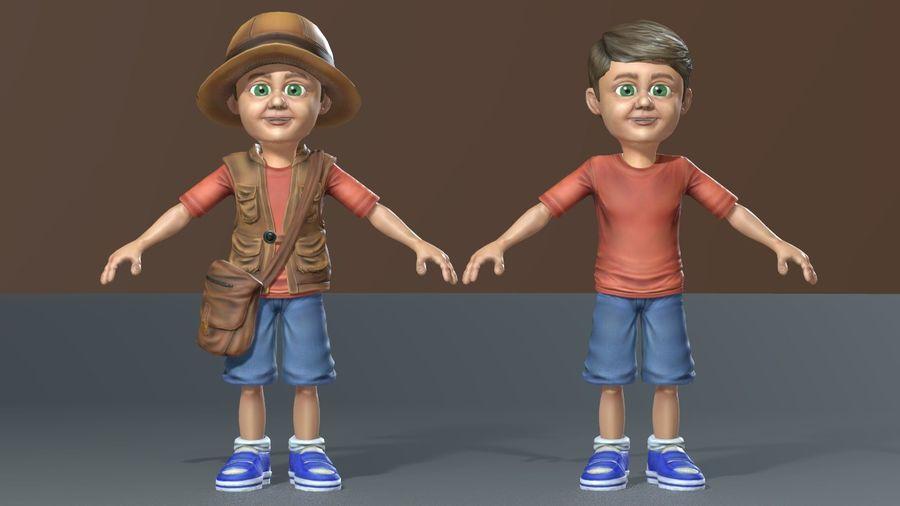 Exploring Boy royalty-free 3d model - Preview no. 15