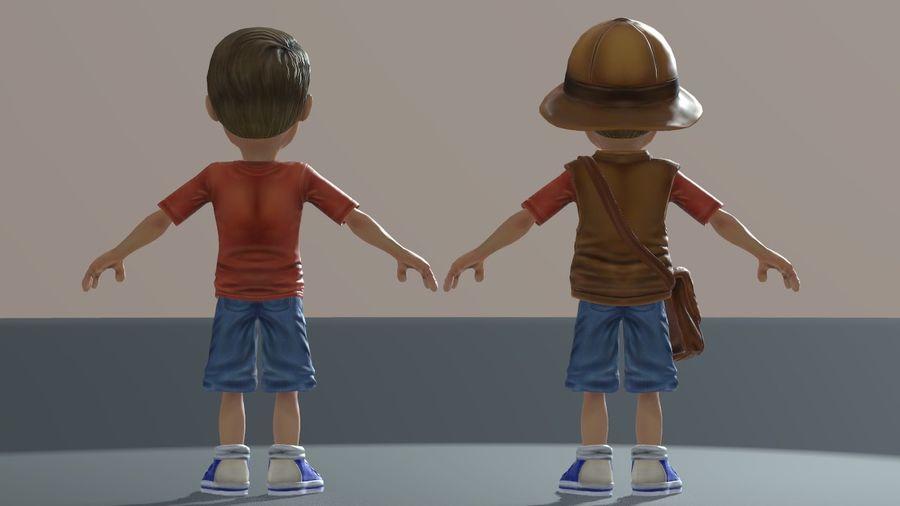 Exploring Boy royalty-free 3d model - Preview no. 11