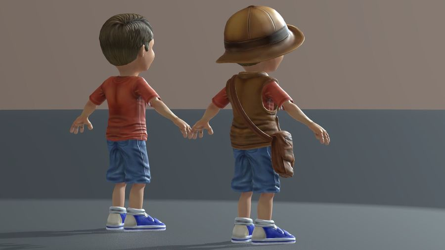 Exploring Boy royalty-free 3d model - Preview no. 10