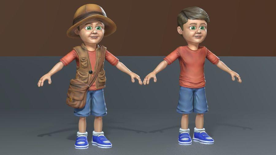 Exploring Boy royalty-free 3d model - Preview no. 5