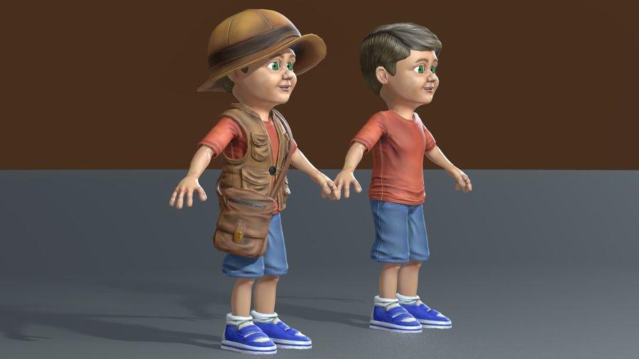Exploring Boy royalty-free 3d model - Preview no. 7