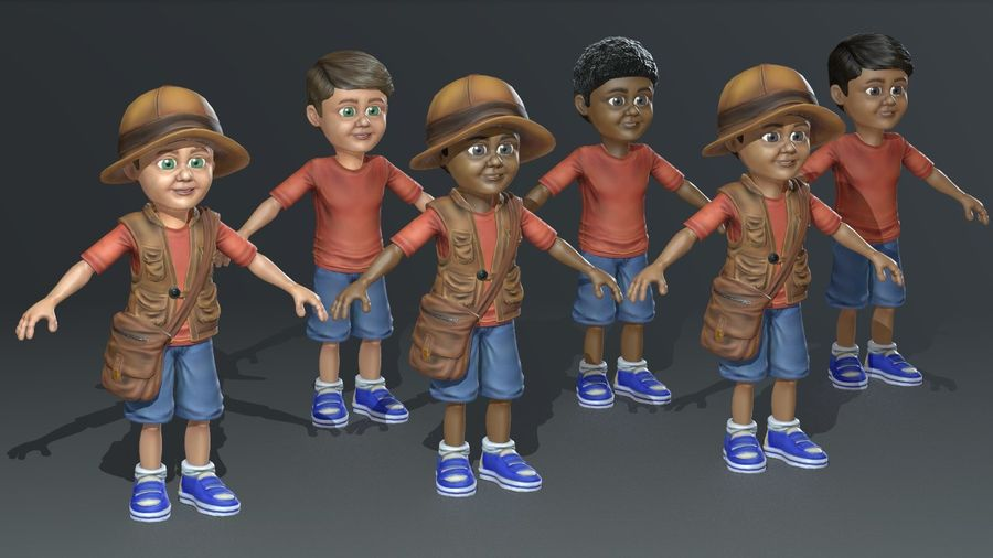 Exploring Boy royalty-free 3d model - Preview no. 2
