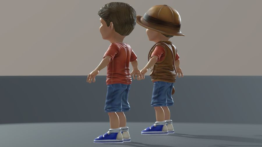 Exploring Boy royalty-free 3d model - Preview no. 13