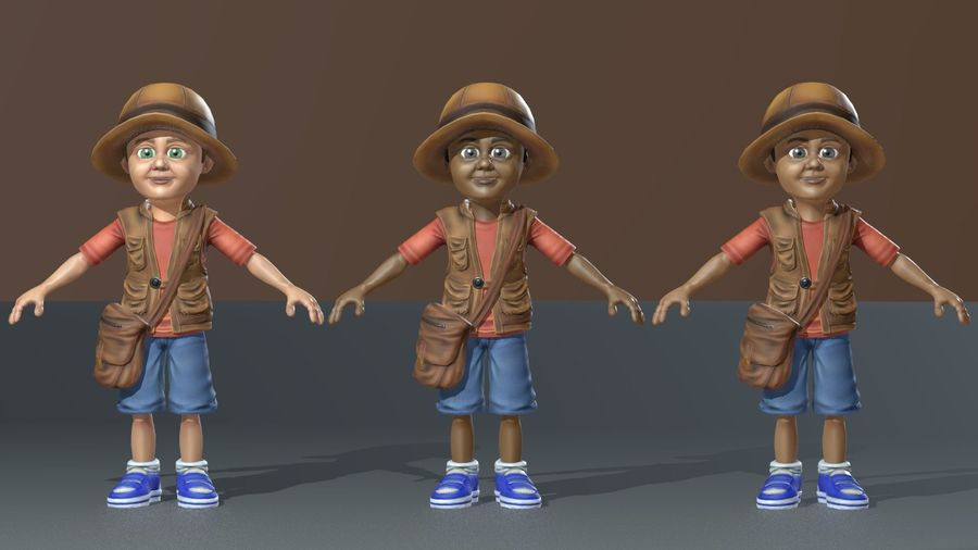 Exploring Boy royalty-free 3d model - Preview no. 3