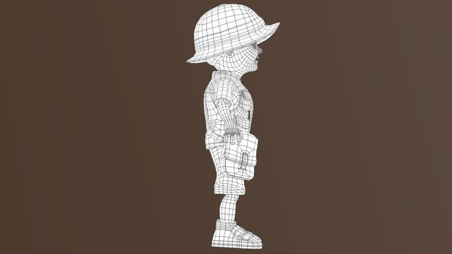 Exploring Boy royalty-free 3d model - Preview no. 9