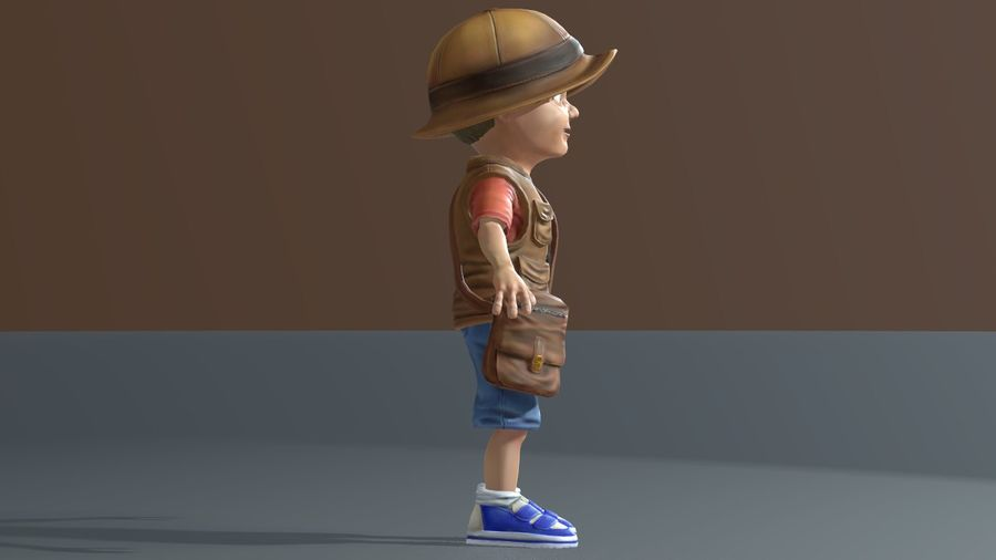 Exploring Boy royalty-free 3d model - Preview no. 8