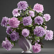 Bouquet lilac Peonies 3d model