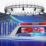 News TV Studio 3D模型 3d model