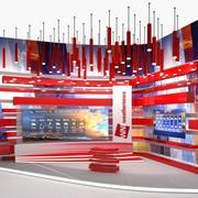 Modern TV Weather Studio 3D模型 3d model
