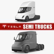 Coleção Tesla Semi Trucks 3d model