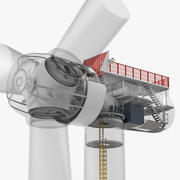 里面的风力涡轮机 3d model