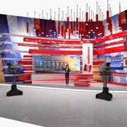 Présentateur TV du modèle 3D truqué de prévisions météorologiques 3d model
