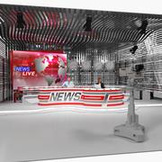 带有主持人的Big News TV Studio装配了3D模型 3d model