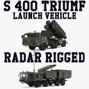 S-400 Triumf Launch Vehicle et Radar Rigged Collection 3d model