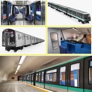 Subway Trains Collection 3d model