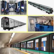 Коллекция поездов метро 3d model