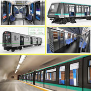Rigged Subway Trains 3D Models Collection 3d model