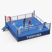 Bokserki walczące na ringu bokserskim Model 3D 3d model