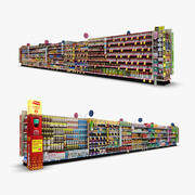 Perakende Koridor 07 - Yiyecek ve Evcil Hayvanlar 3d model