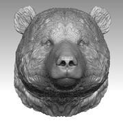 Голова панды 3d model